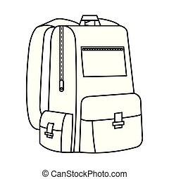 schoolbag study isolated icon vector illustration design