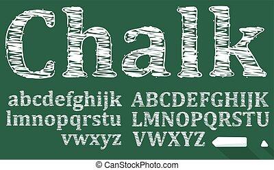 chalk sketched font