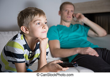 Schoolboy addicted to watching tv