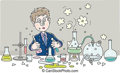 Schoolboy after an explosion at a chemistry lesson - School ...