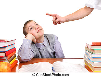 Schoolboy and Strict Parent - Parent threatening Son for a...