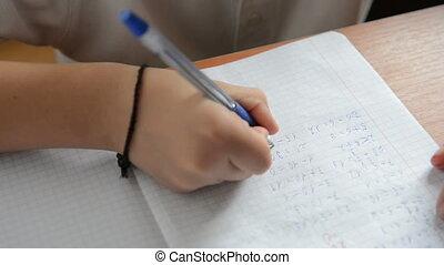 Schoolboy decides tasks on mathematics