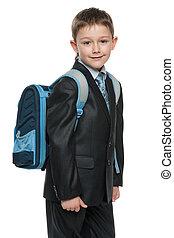 Schoolboy with a bag