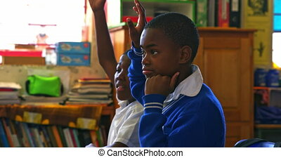 Schoolboys in a lesson at a township school 4k