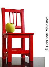 schoolchair, apfel