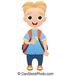 Schoolchild cute cartoon character