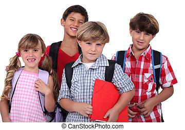 schoolchildren, tiro estúdio