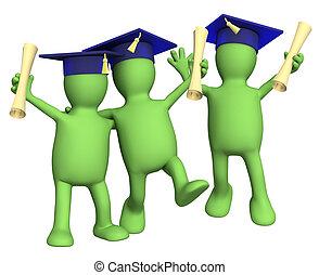 schoolfellows, amis, diplômes, heureux
