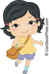 schoolgirl, asiático
