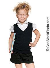 schoolgirl, blouse, black
