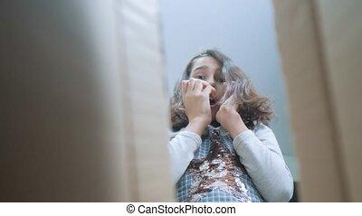 schoolgirl cexperiencing joy happiness lifestyle surprise....