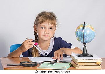 schoolgirl, les, aardrijkskunde