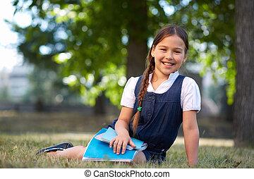 schoolgirl, vrolijke