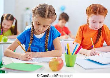 schoolgirls, desenho