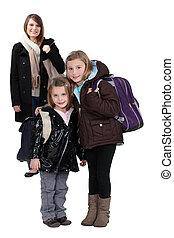 schoolgirls, madre