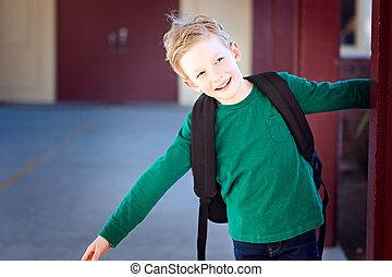 schoolkid at recess