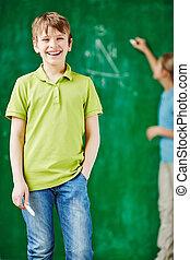 schoolkid, boldog