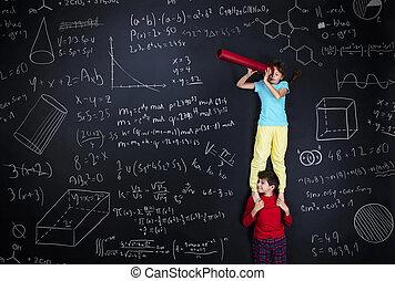 schoolkids, twee, leren