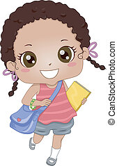 schoolmeisjes, afrikaans-amerikaan