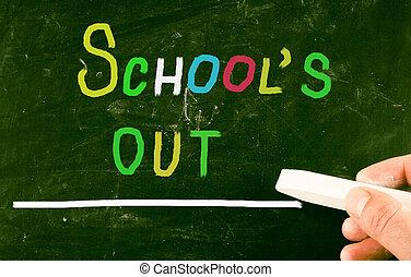 school's, concepto, afuera