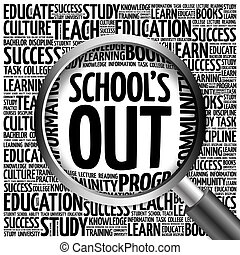 School's Out word cloud