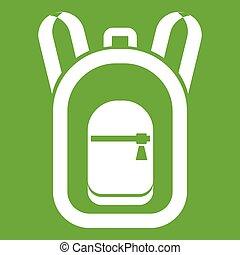schooltas, groene, pictogram