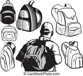 schooltas, verzameling