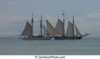 schooner battle 02 - Two sailing vessel