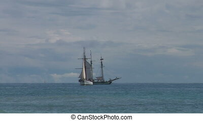 schooner battle 03 - Two sailing vessel