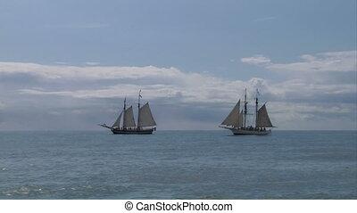 schooner battle 05 - Two sailing vessel