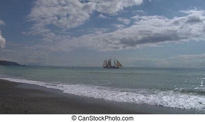 schooner harbor 01 - A schooner