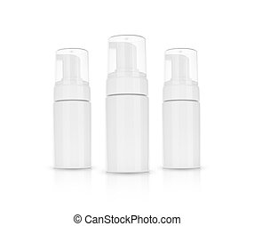 schoonheidsmiddel, achtergrond, witte , room, shampoo., schuim, product