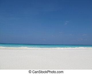 schoonmaken, strand, tachai, eiland, similan, eiland, groep, phang, nga, thailand