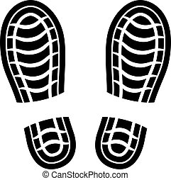 schoonmaken, vector, schoen, afdrukken