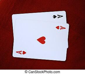 schoppen aas, speelkaart