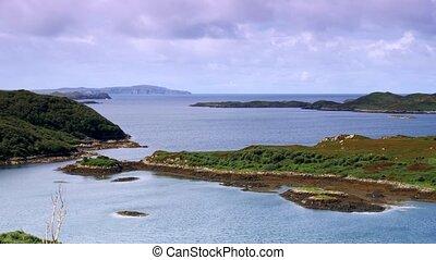 schottische , westliche küste, see, land, -, eingestuft, version