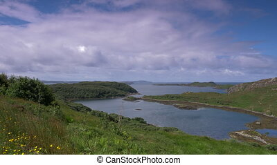 schottische , westliche küste, see, land, -, gebürtig, version