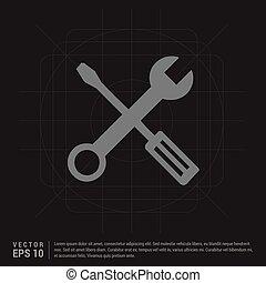schraubenschlüssel, maulschlüssel, ikone