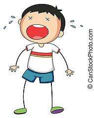 schreeuwende jongen