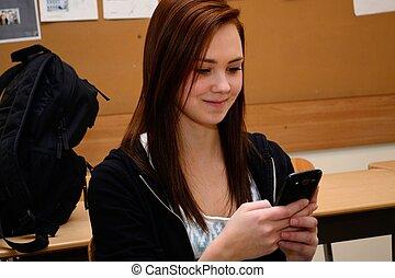 schreibt, sms, jugendliche