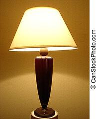 schreibtisch, lampe