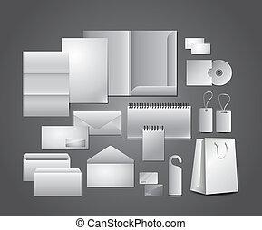 schreibwaren, schablonen, korporatives design