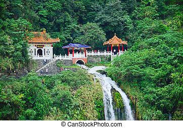 schrein, changchun, taroko, -, taiwan, park, (eternal, ...