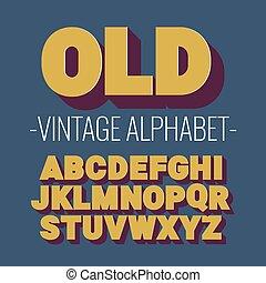 schriftart, alphabet., 3d