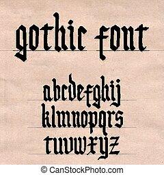schriftart, gotische