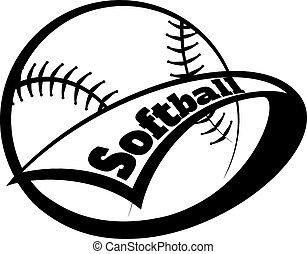 schriftart, softball, wimpel