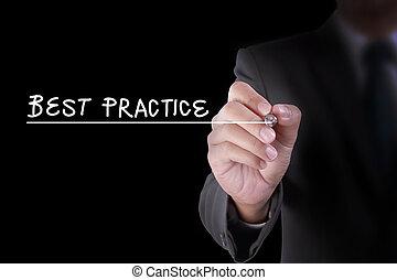 schrijf, praktijk, best