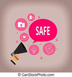 schrijvende , analyse, megafoon, verantwoordelijkheid, topic, toespraak, harmed, klesten, anders, vasthouden, beschermd, waarschijnlijk, woord, niet, brandkast., hand, gevaar, zijn, of, blootgestelde, bubble., hu, concept, tekst, zakelijk