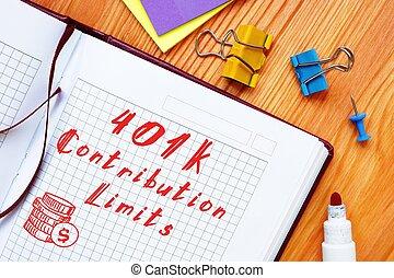 schrijvende , bijdrage, handschrift, tekst, 401k, limits.