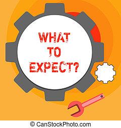 schrijvende , future., zakelijk, happen, wat, verwarring, geloof, tekst, expect., over, testament, woord, concept